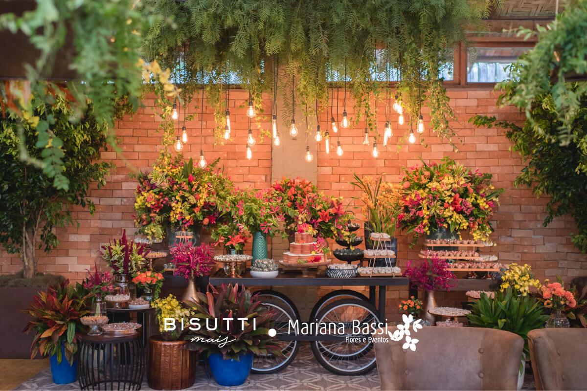 Diversidade de flores para o seu evento